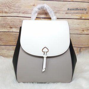 Kate Spade Optic White Medium Flap Backpack adel
